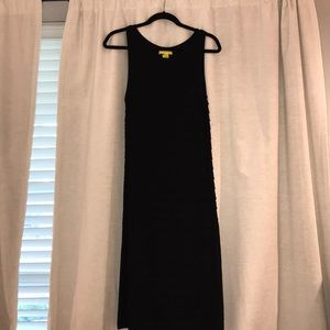 catherine malanxrino mid calf black dress